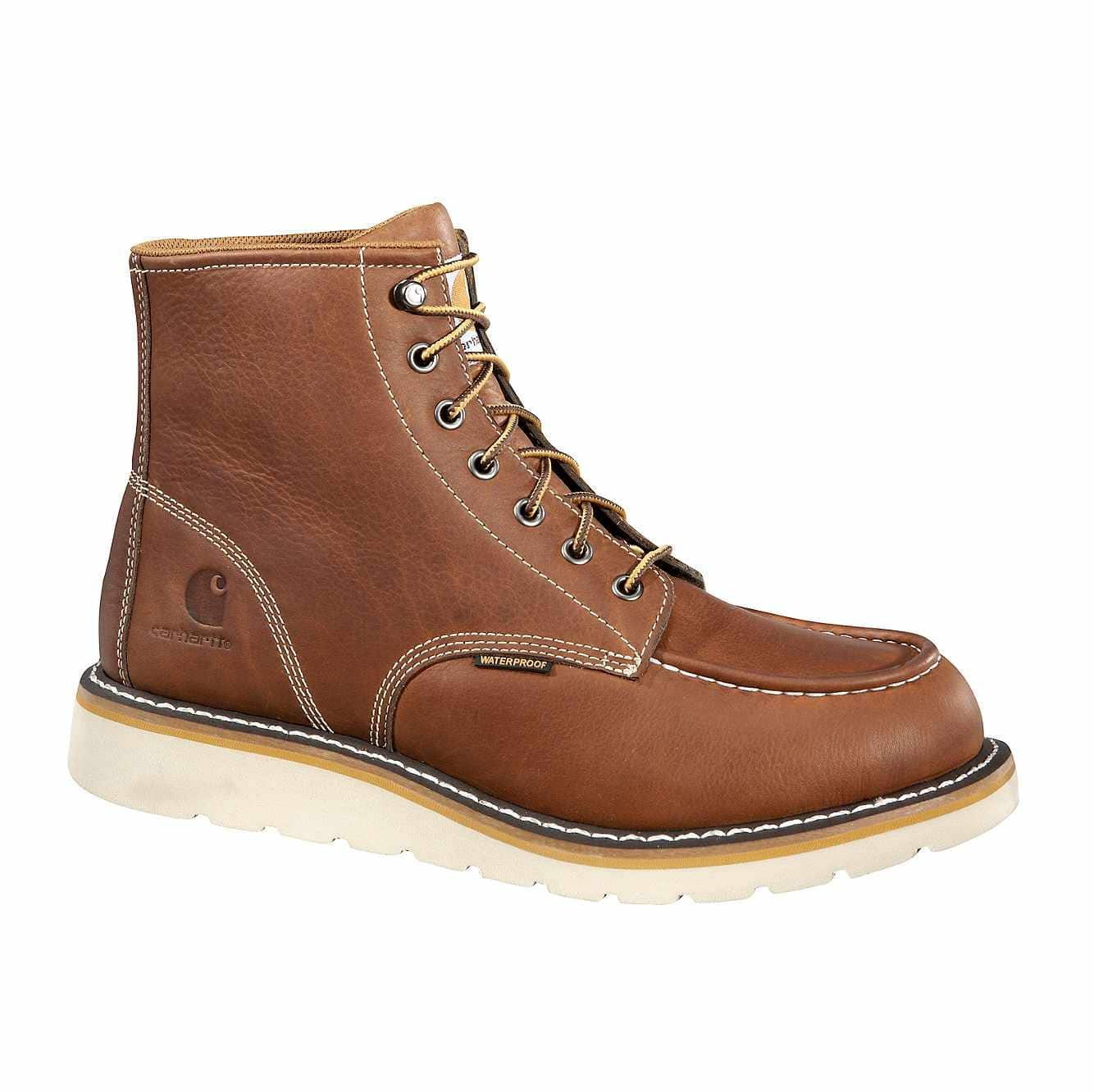 Picture of 6-Inch Steel Toe Wedge Boot in Tan