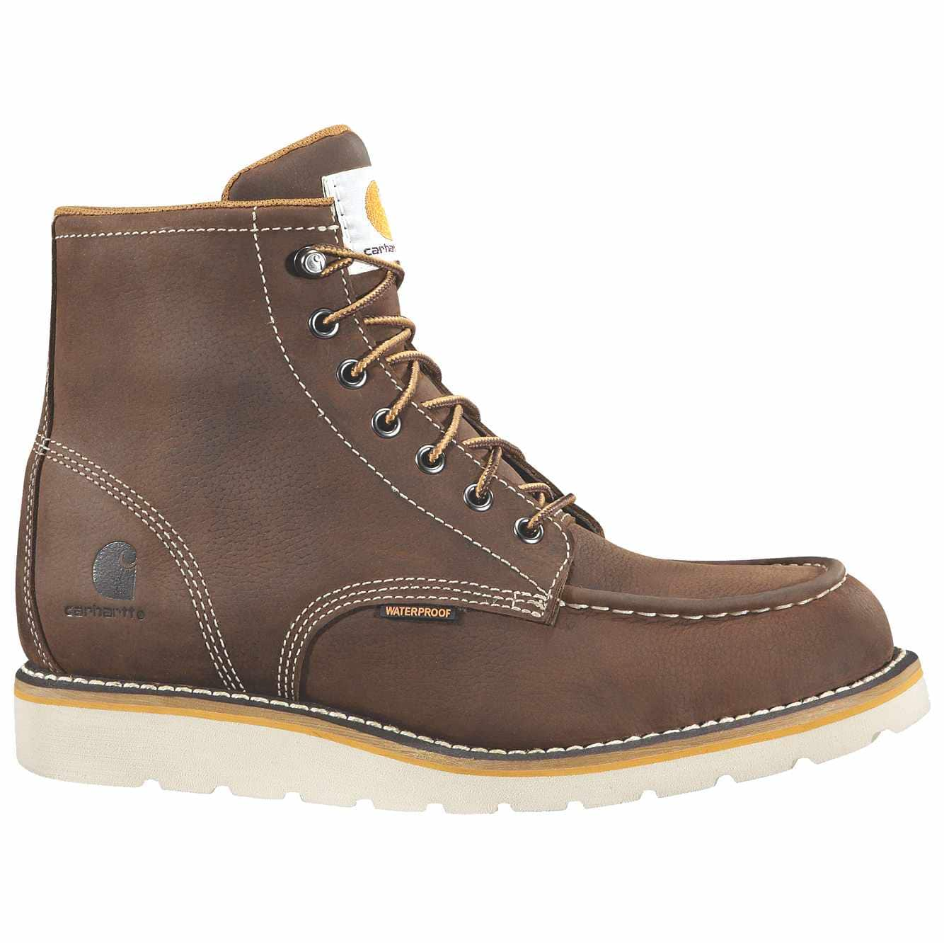 Picture of 6-Inch Steel Toe Wedge Boot in Brown Oil Tanned