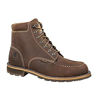 Carhartt Men's Brown Oil Tanned 6-Inch Steel Toe Work Boot - front
