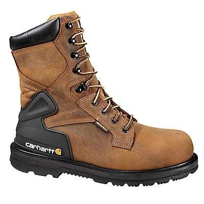 Carhartt Men's BISON BROWN OIL TAN 8-Inch Steel Toe Work Boot