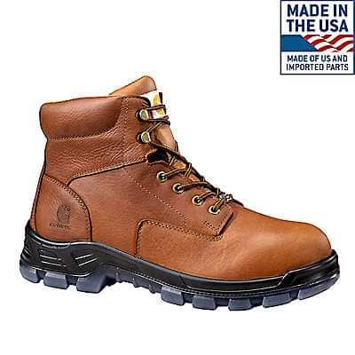 Carhartt Men's Brown Made in the USA 6-Inch Composite Toe Work Boot - front