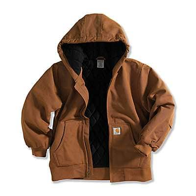 Carhartt  Carhartt Brown Active Jac Flannel Quilt-Lined - back