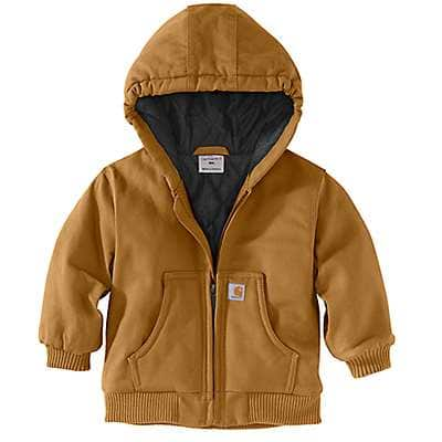 Carhartt Boys' Carhartt Brown Active Jac Flannel Quilt-Lined - front