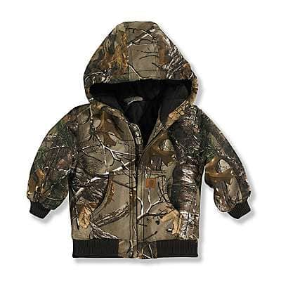 Carhartt Boys' Realtree Xtra Realtree Xtra® Camo Active Jac Flannel Quilt-Lined - front