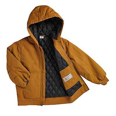 Carhartt  Mustang Brown Work Active Jac Taffeta Quilt-Lined - back