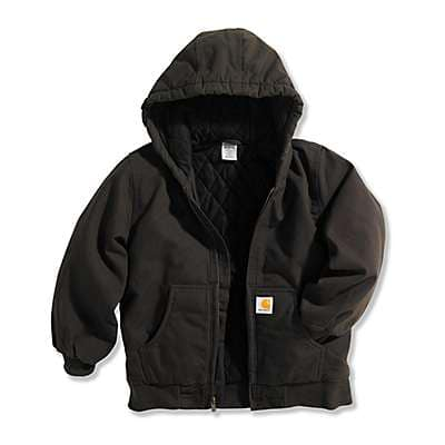 85cc66c42c482 Carhartt Boys' Mustang Brown Work Active Jac Taffeta Quilt-Lined - front ...
