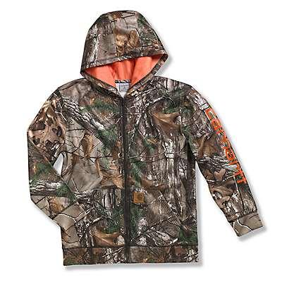 Carhartt Boys' Realtree Xtra Realtree Xtra® Logo Fleece Zip Front Hoodie - front