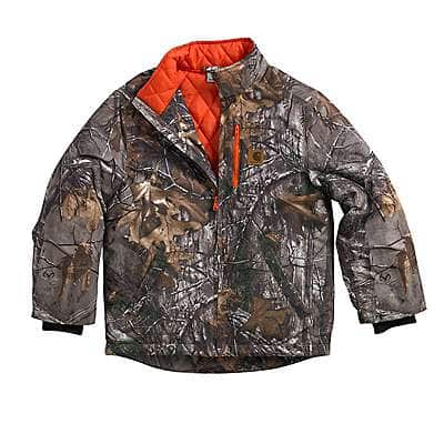 Carhartt Boys' Realtree Xtra Camo Jacket/Quilted Flannel Lined - front