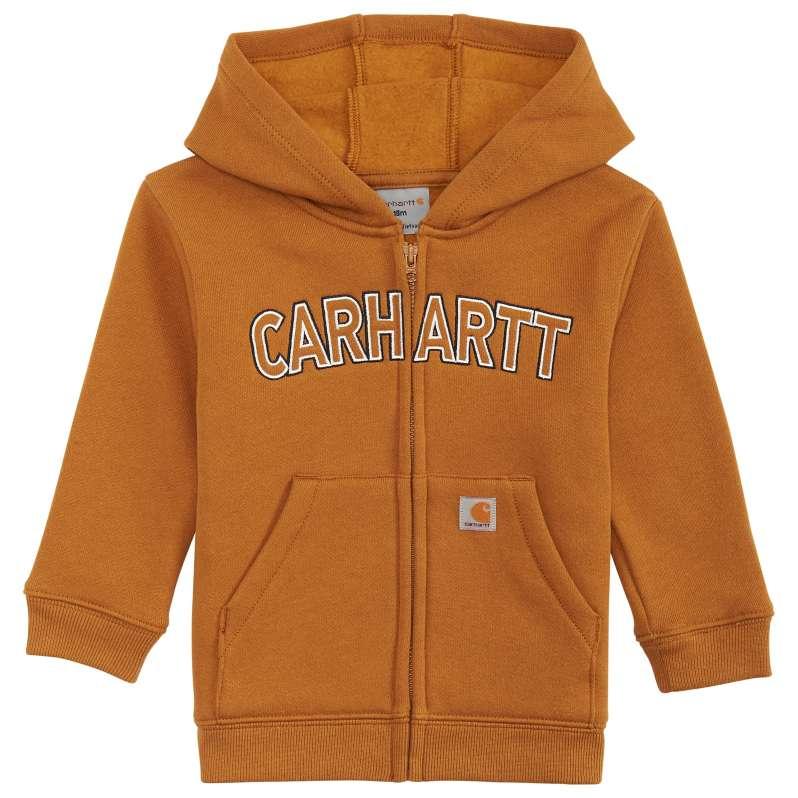Carhartt  Carhartt Brown Logo Fleece Zip Sweatshirt