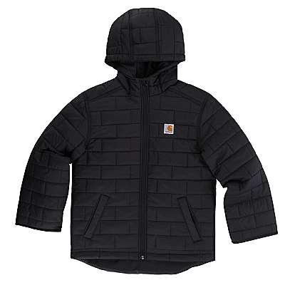 Carhartt Boys' Car Black Gilliam Hooded Jacket - front