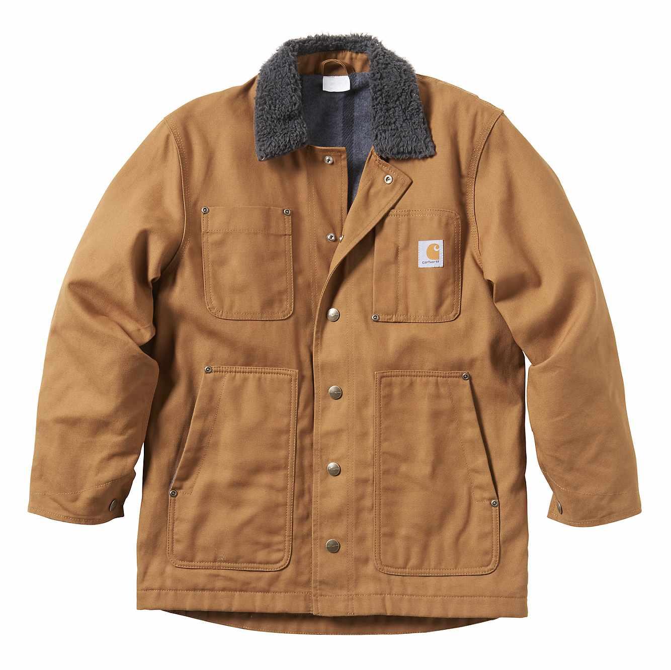 Picture of Full Swing&.0reg; Fleece-Lined Chore Coat in Carhartt Brown