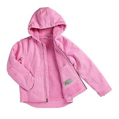 Carhartt Girls' RSM-Rose Bloom Redwood Jacket Sherpa Lined - back
