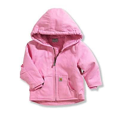 Carhartt Girls' RSM-Rose Bloom Redwood Jacket Sherpa Lined - front