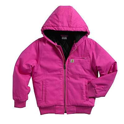 Carhartt Girls' Raspberry Wildwood Jacket Quilted Flannel-Lined - front