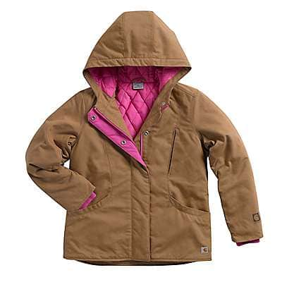 Carhartt Girls' Honey Ginger Girls' Quick Duck® Mountain View Jacket - front