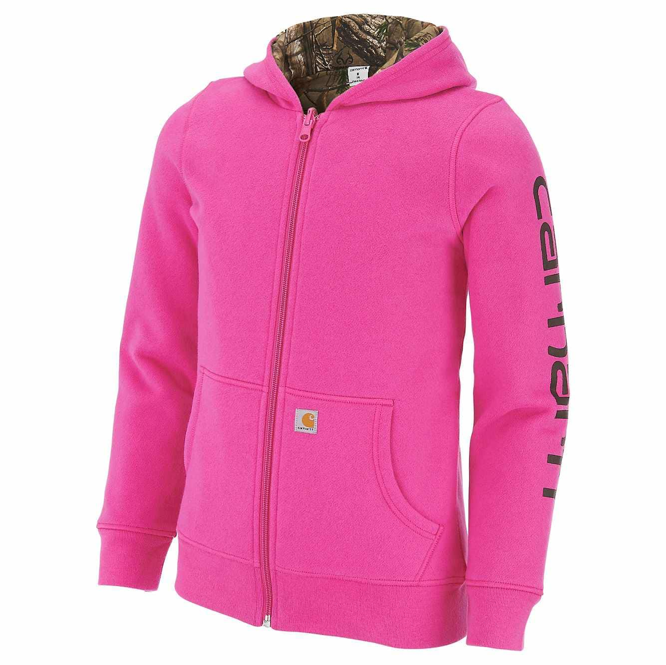 Picture of Realtree Xtra® Reversible Zip Front Hoodie in Raspberry