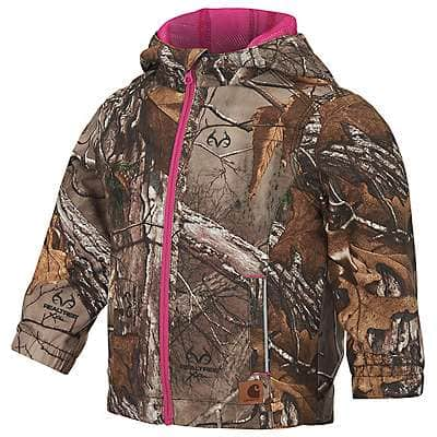 Carhartt Girls' Realtree Xtra Realtree Xtra® Packable Rain Jacket - front