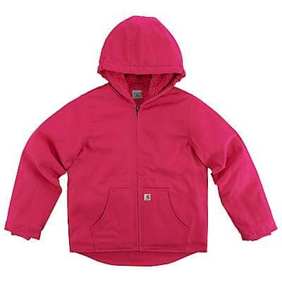 Carhartt Girls' Pink Peacock Redwood Jacket Sherpa Lined - front
