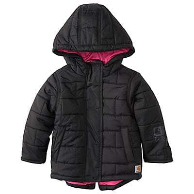 Carhartt Girls' Car Black Amoret Quilted Jacket - front