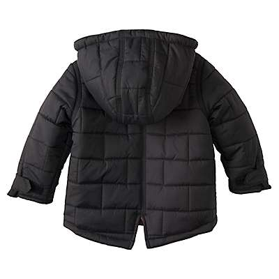 Carhartt Girls' Car Black Amoret Quilted Jacket - back