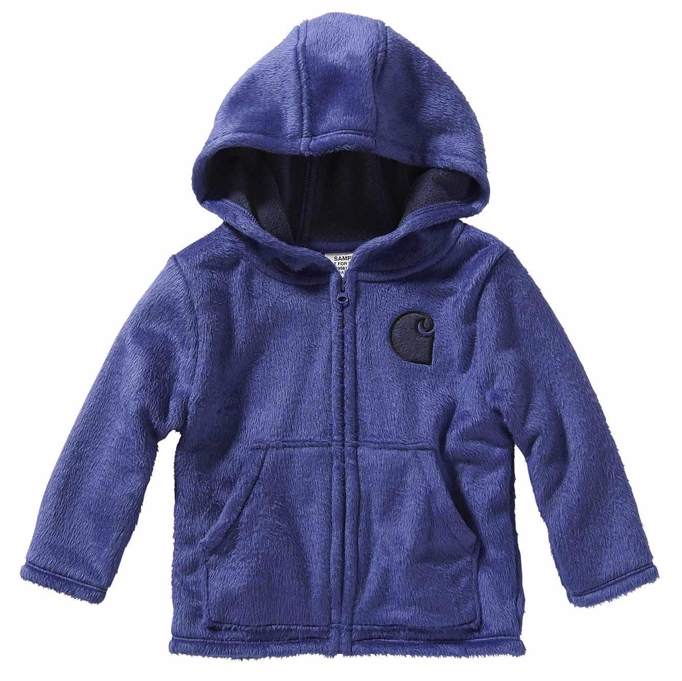 Picture of Hooded Cozy Fleece Jacket in Dark Grape