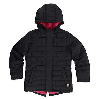 Carhartt Girls' Light Onyx Amoret Quilted Jacket - front