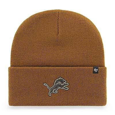 Carhartt Unisex Duck Brown Detroit Lions Mossy Oak x Carhartt x '47 Knit Hat - front