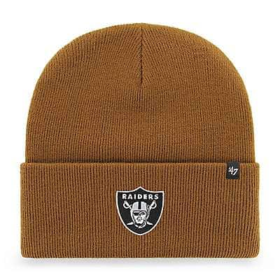 Carhartt Men's Carhartt Brown Oakland Raiders Carhartt x '47 Cuff Knit - front