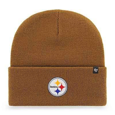 Carhartt Men's Carhartt Brown Pittsburgh Steelers Carhartt x '47 Cuff Knit - front