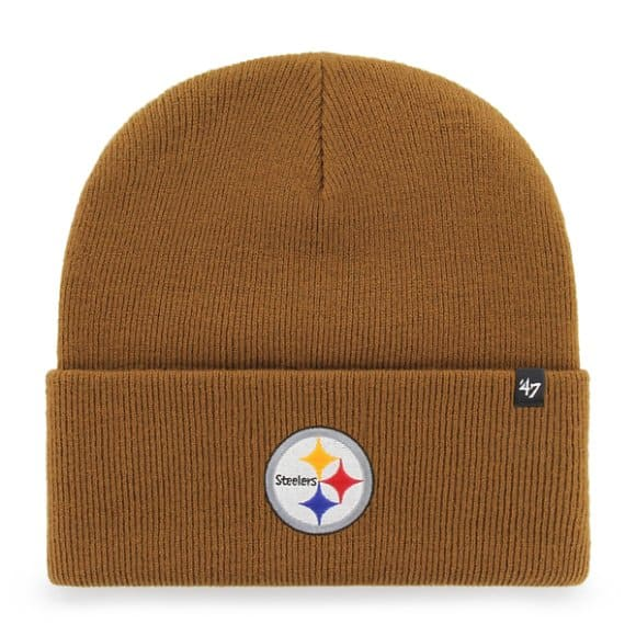 Carhartt Men s Carhartt Brown Pittsburgh Steelers Carhartt x  47 Cuff Knit  ... b908601d84f