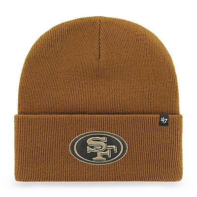 Carhartt Unisex Duck Brown San Francisco 49ers Mossy Oak x Carhartt x '47 Knit Hat - front