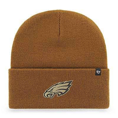 Carhartt Unisex Duck Brown Philadelphia Eagles Mossy Oak x Carhartt x '47 Knit Hat - front