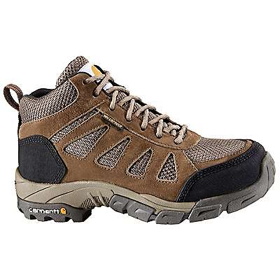 Carhartt Women's Brown Leather and Nylon Lightweight Safety Toe Work Hiker - front