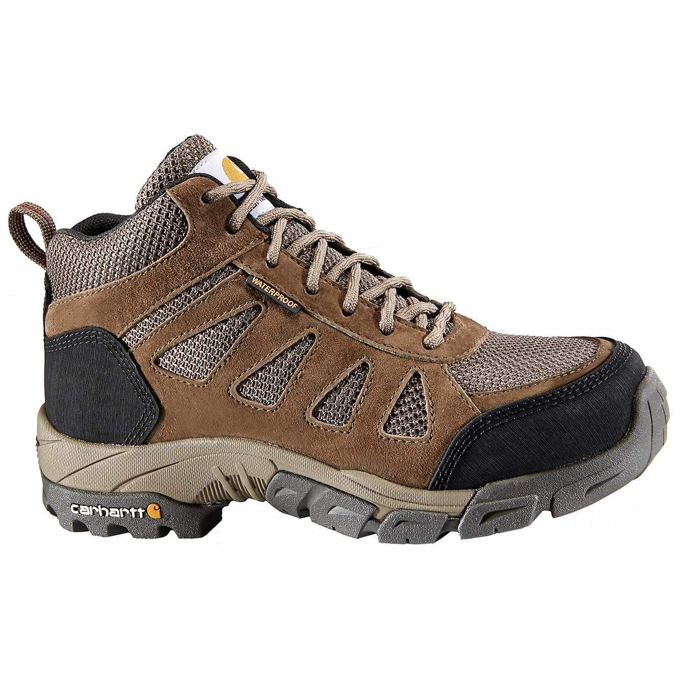 Picture of Lightweight Safety Toe Work Hiker in Brown Leather and Nylon