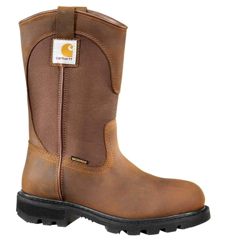 Carhartt  BISON BROWN OIL TAN 10-Inch Non-Safety Toe Wellington Boot