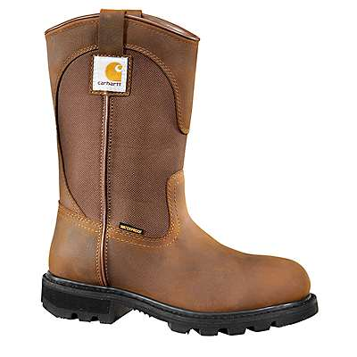 Carhartt  Bison Brown Oil Tan 10-Inch Steel Toe Wellington Boot - front