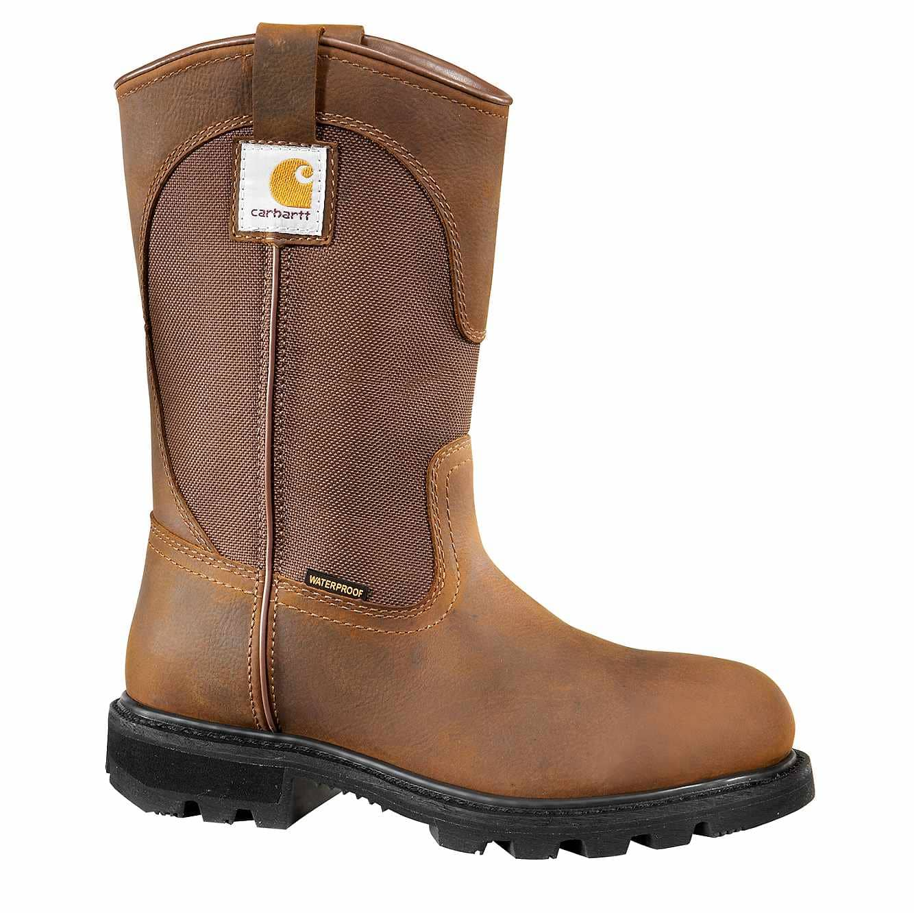 Picture of 10-Inch Steel Toe Wellington Boot in Bison Brown Oil Tan
