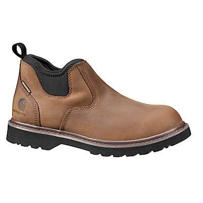 Carhartt Women's Dark Brown 4-Inch Non-Safety Toe Slip On Boot - front