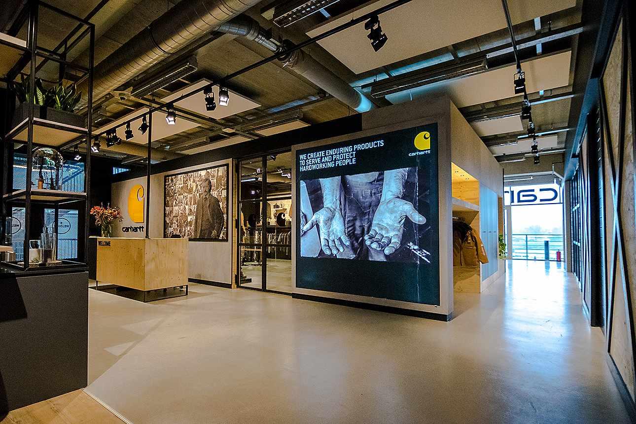Carhartt European headquarters, Amsterdam, remodeled 2017