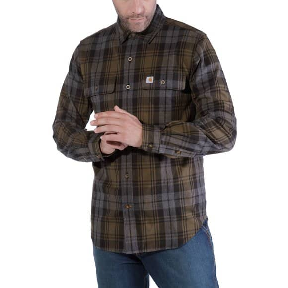 Tops, T-Shirts & Shirts Carhartt Shirt Flanell Hubbard Longsleeve Slim Fit