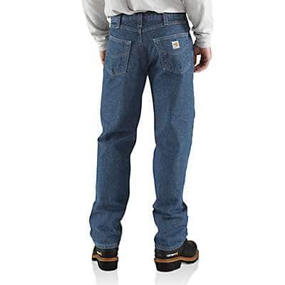 Carhartt Men's Midstone Flame-Resistant Relaxed-Fit Utility Jean - back