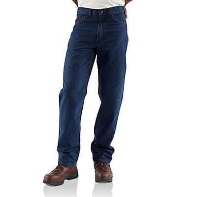 Carhartt Men's Denim Flame-Resistant Signature Denim Jean-Relaxed Fit