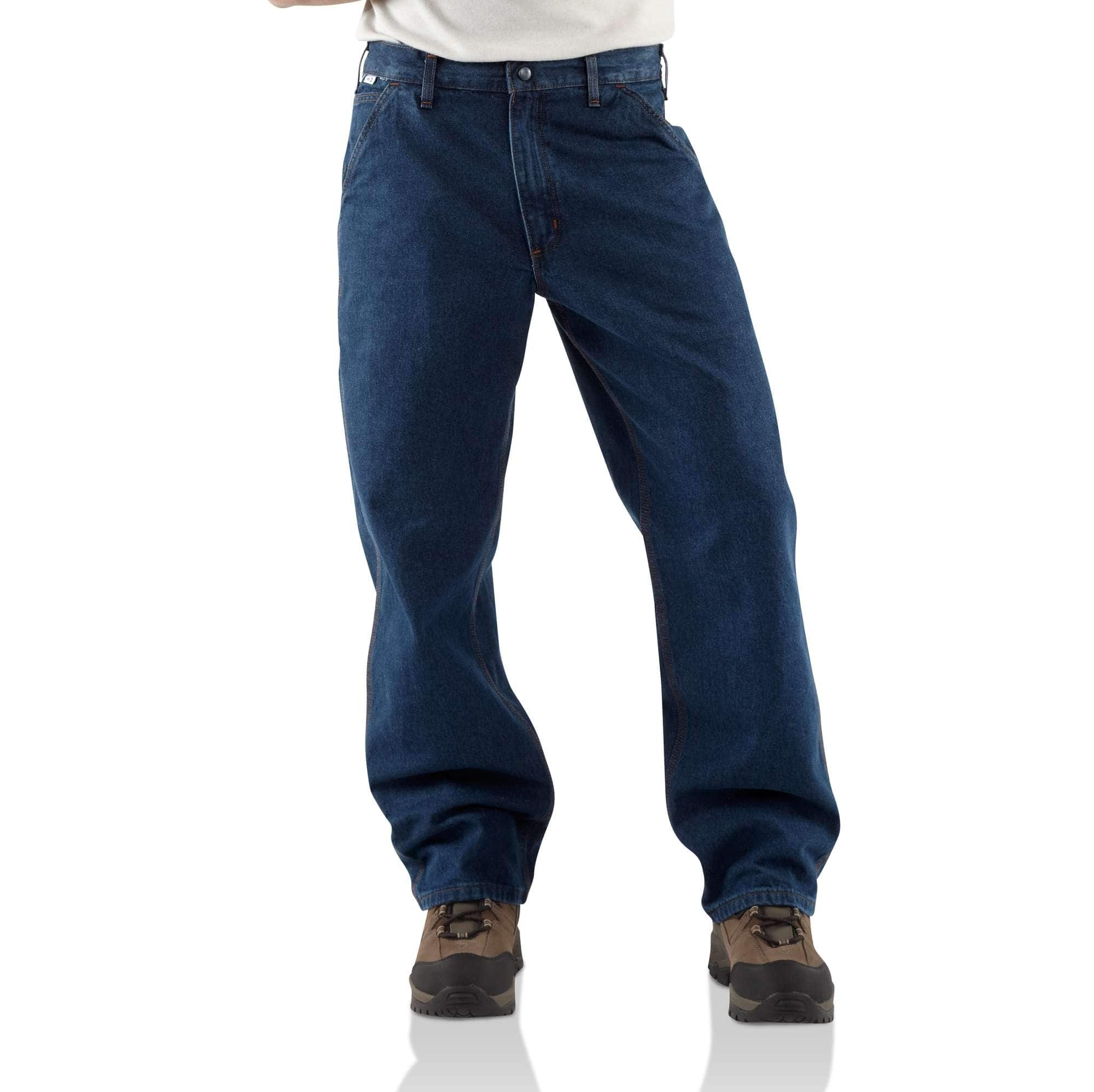 Men S Flame Resistant Denim Dungaree Frb13 Carhartt