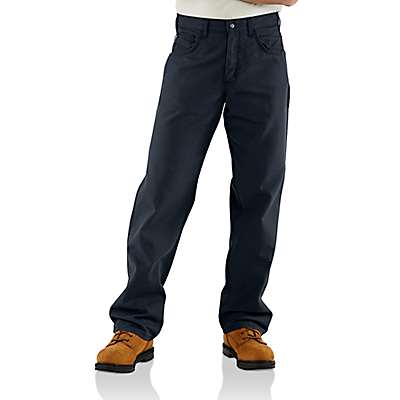Carhartt Men's Dark Navy Flame-Resistant Loose Fit Midweight Canvas Pant - front