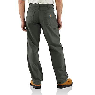 Carhartt Men's Dark Navy Flame-Resistant Loose Fit Midweight Canvas Pant - back