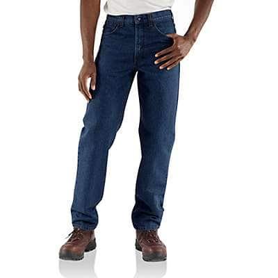 Carhartt Men's Denim Flame-Resistant Relaxed Fit Denim Jean - front