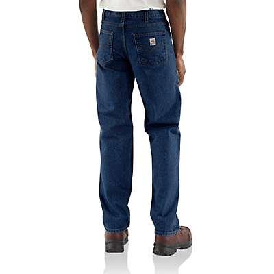 Carhartt Men's Denim Flame-Resistant Relaxed Fit Denim Jean - back