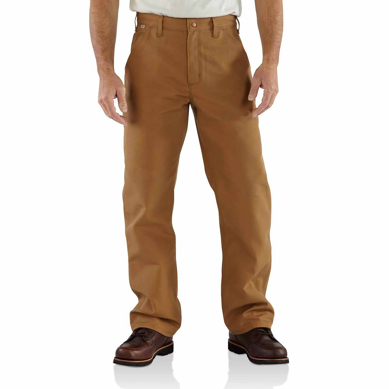 Picture of Flame-Resistant Duck Work Dungaree in Carhartt Brown
