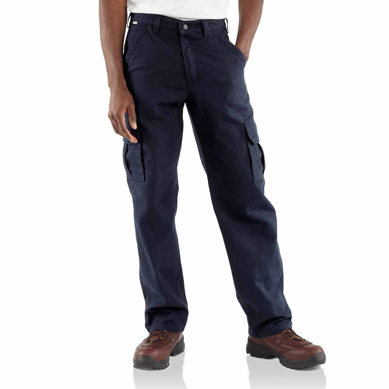 Picture of Flame-Resistant Canvas Cargo Pant in Dark Navy