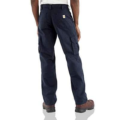 Carhartt Men's Dark Navy Flame-Resistant Canvas Cargo Pant - back